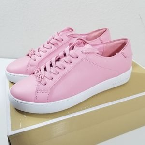 Harper Lace Up Pink Leather Sneaker